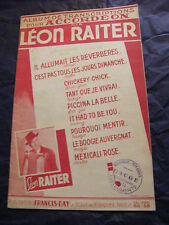 Partition Album de Transcription pour Accordéon Léon Raiter 1947 Music Sheet