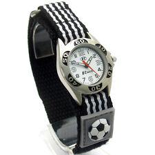 Ravel Children's Black and White Football Strap Watch