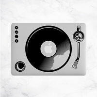 Turntables Decal for Macbook Pro sticker vinyl air mac 13 15 11 laptop music DJ