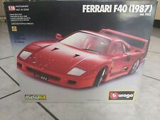 Ferrari F40 (1987) Burago Die Cast Metal Kit - in scatola originale - 1:18
