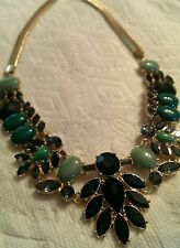 Ladies large stone fashion necklace jewelry chunky woman's Nitascrochet.com