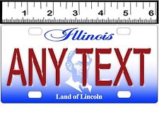 CUSTOM PERSONALIZED ALUMINUM BICYCLE MINI STATE LICENSE PLATE-ILLINOIS