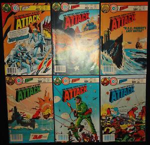 Attack #21, 22, 25, 26, 37, 38 1980-83 (7.0) 6-Iss lot Charlton War