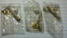 """Brass Flexible Spring Door Stop Doorstop 3-1/8"""" Hardware (3 to a pack)"""