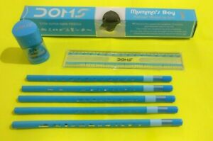 10x Doms Mumma's Boy X-TRA SUPER DARK Pencils + free (1 eraserner+1 SCALE)
