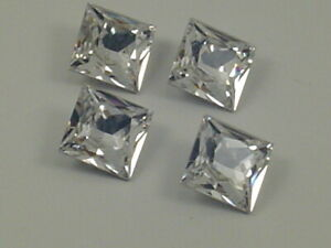 36pcs 3mm CRYSTAL SQUARE FOILED POINTED BACK Swarovski  Rhinestones