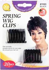Qfitt Spring Wig Clips Hook Extension Durable Holder Hair Comb 20pcs #1103 Black