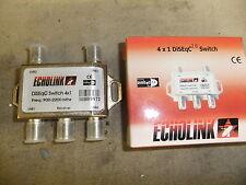 Switch 4X1 DiSEqC Satellite Dish FTA Receiver 4 Way Multi  LNBF F Plug ECHOLINK