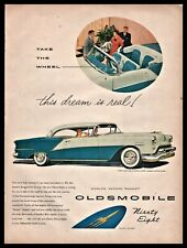 1954 OLDSMOBILE Ninety-Eight Deluxe Holiday Coupe Classic Car AD