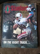 """Stanford Football book """"On The Right Track"""" 1996 magazine University"""