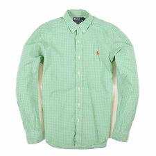 Ralph Lauren Herren Hemd Shirt Freizeithemd Gr.S Slim Fit Karo Mehrfarbig 89877