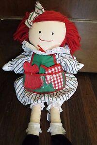 "1995 Eden Madeline Madeleine Plush Doll 19"" Apron Mitt Stuffed Sweets N Treats"