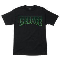 Creature Skateboard Logo Outline Tee Mens T-shirt Black S M L XL 2XL Brand New