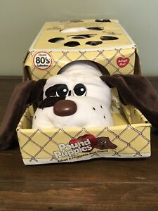 "New Pound Puppy Puppies White Brown Spots Large 17"" Dog Classic 80's Collection"