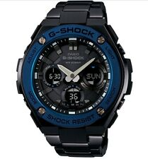 Casio G-Shock G-STEEL * GSTS110BD-1A2 Solar Blue Bezel Black Steel Ivanandsophia