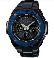 Casio G-Shock G-STEEL *GSTS110BD-1A2 Solar Blue Bezel Black Steel Ivanandsophia