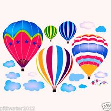 Hot Air Balloons & Clouds Removable Wall Sticker Kids Boy Girl Room Living Room
