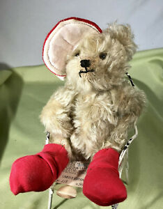 Merry Thought LTD  Plush Bear Small Jointed Street Wise George Mohair 12in #218