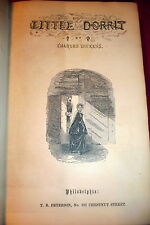 Dickens, Little Dorrit. 1857 First American Illustrated Edition. Peterson