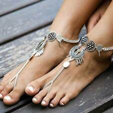 Water Drop Hollow Anklet Sl Fashion Women Silver Jewelry Bohemian