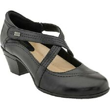 Earth Women's Passage Leather Mary Jane Shoes in Black Size 9B