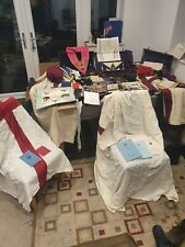 Huge Masonic, Freemason Collection - Medals, Jewels, Apron, Robe Trunks, Books +