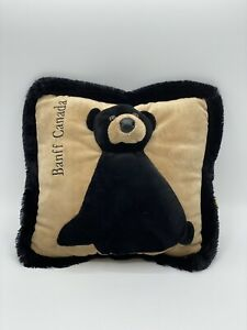 JAAG Plush-Banff Canada Cushion-With A Bear On The Front