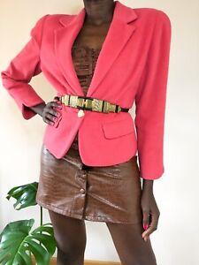 Ladies Blazer Light Pink 80's Vintage Style Pink Blazer uk size 10 wool