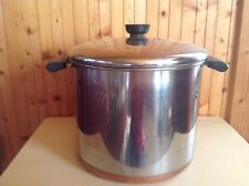 Revere Ware Copper Bottom 8 Quart Stock Pot with Lid