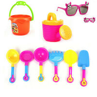 9 Pcs Baby beach seaside kids bucket spade rake kit sand building molds fun toy