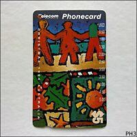 Telecom Christmas 1994 Australia Paper Cut Out N943112 581 $5 Phonecard (PH3)