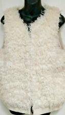 NWT $225.00 Michael Kors Faux Mongolian Lamb Fur Vest Basic Bone Size S