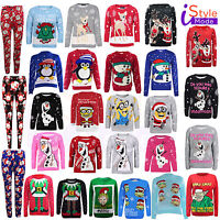 New Boys Girls Unisex Kids Xmas Novelty Sweater Olaf Party Christmas Jumpers