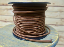 Brown Cotton 2-Wire Cloth Covered Cord, 18ga. Vintage Style Lamps Antique Lights