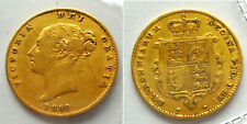 More details for very rare 1850 gold half-sovereign victoria young head s-3859 fine dnw1666