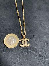 18K 18Ct Carat  Gold Filled CZ Necklace Channel Set Cubic Zirconia Necklace 45cm