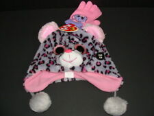 dcdfda5ab38 NWT Girls TY Beanie Boos Tasha Trapper Hat + Gloves Heidi Set Fleece Winter  NEW