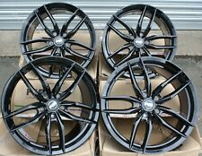 "18"" BLACK IOTA ALLOY WHEELS FITS 5X100 AUDI A1 A2 A3 >2003 TT ROADTSER > 2006"