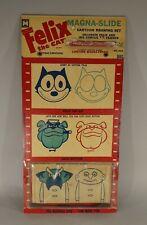 "Original 1950S Felix The Cat Magic Magna-Slide Drawing Set Unused On Card 8""X17"""