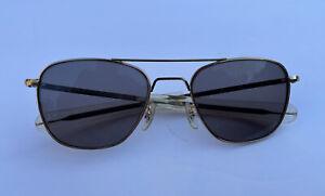 Vintage RANDOLPH ENGINEERING 50-22mm 5 ½ Gold Pilot Aviator Sunglasses Frames Rx