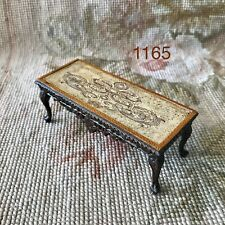 Bespaq/Pat Tyler Dollhouse Miniature Leather Trim Coffee Table Stand 1165