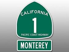 "5.5"" pch pacific coast highway 1 monterey california car sticker decal usa made"