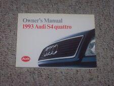 1993 Audi S4 Quattro Factory Original Owner's Owners User Manual Book RARE!!!