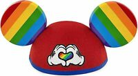 Disney Parks - Gay Days Pride Heart Mickey Mouse Rainbow Ears Hat Adult Size NEW