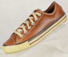 Converse Mens All Stars Size 8M Brown Leather Heavy Sole Thinsulate Sneakers
