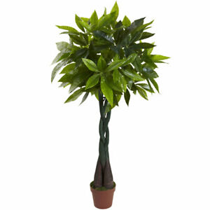 4' ARTIFICIAL INDOOR MONEY PLANT FAKE SILK - (REAL TOUCH)