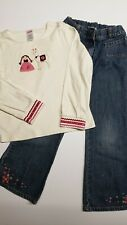 Vintage Gymboree Peruvian Doll denim an Ivory Llama shirt girls size 7