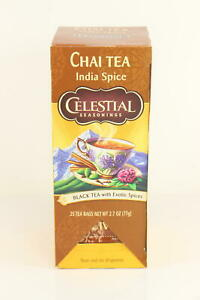 5 PACK Celestial Seasonings Chai Tea India Spice  25 Count BB 6/24/21 U37