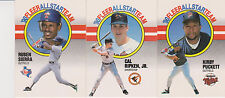 1990 Fleer All-Stars Insert (3) Card Lot Cal Ripken Kirby Puckett Ruben Sierra
