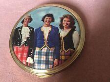 Vintage 1960s Colourful Rare Three Scottish Ladies Wearing Tartan Compact